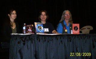 Lynda Williams, Tina Hunter, Sandra Fitzpatrick at Con-Version 25 in Calgary, AB