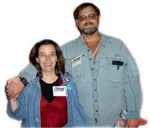 Lynda Williams and John Preet at ConVersion 22 in Calgary, Summer 06