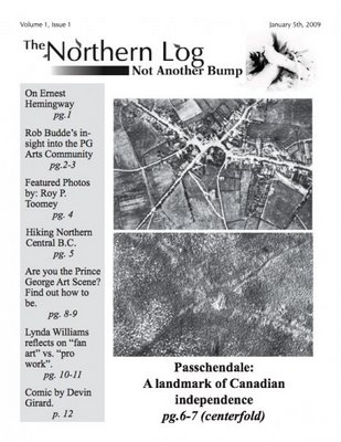 Cover of the first edition of the Northern Log general manager Joshua Laurin