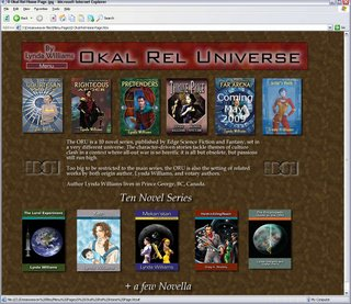 Home page design for Okal Rel site by Angela Lott May 09 done for a high school project