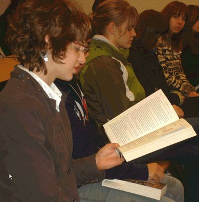 Nov 29, 2007 Student reads from Okal Rel saga at Quantum Leaps in Terrace, B.C.