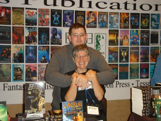 Hades Publications booth at World Fantasy Con in Calgary 2008